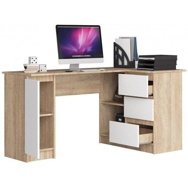 Письменный стол NORE B20, правый вариант, цвета дуба/белый цена