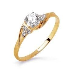 Zelta gredzens ar fianītiem 05TPZ000447 cena un informācija | Gredzeni | 220.lv