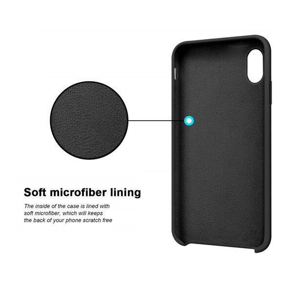 Silikona telefona vāciņš paredzēts Samsung Galaxy A70, zils lētāk