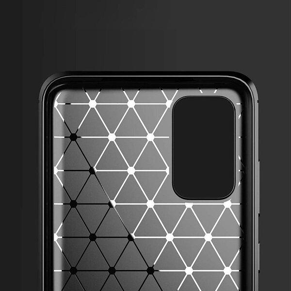 Carbon Case Flexible Cover TPU Aizsargapvalks paredzēts Samsung Galaxy S20 Ultra black internetā