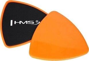 Slīdošie treniņu diski HMS DPS01, oranži/melni cena un informācija | Slīdošie treniņu diski HMS DPS01, oranži/melni | 220.lv