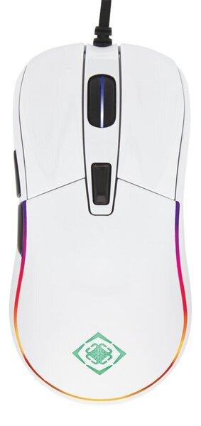 Vadu pele Deltaco Gaming RGB GAM-085-W, balta cena