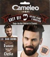 Krēmveida matu krāsa Delia Cosmetics Cameleo Men 2 x 15 ml, 3.0 Dark Brown cena un informācija | Matu krāsas | 220.lv