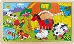 Деревянная головоломка с мотивом животных фермы Top Bright 15 деталей цена и информация | Игрушки для малышей | 220.lv
