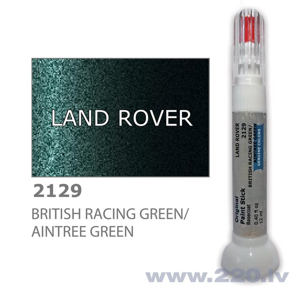 Krāsu korektors skrāpējumu korekcijai LAND ROVER 2129 - BRITISH RACING GREEN/AINTREE GREEN 12 ml