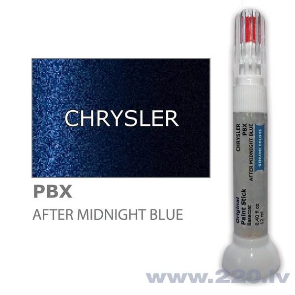 Krāsu korektors skrāpējumu korekcijai CHRYSLER PBX - AFTER MIDNIGHT BLUE 12 ml