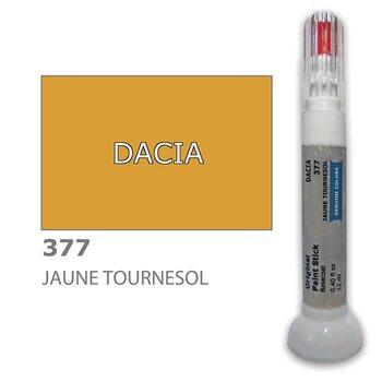 Krāsu korektors skrāpējumu korekcijai DACIA 377 - JAUNE TOURNESOL 12 ml cena un informācija | Auto krāsas | 220.lv