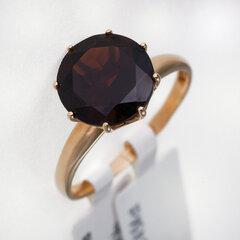 Zelta gredzens ar granātu 05TPZ000508 cena un informācija | Gredzeni | 220.lv