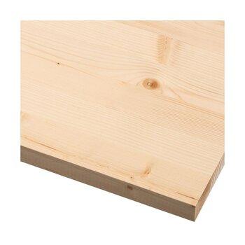 Sienas plaukts Spaceo Spruce 120x40 cm, smilškrāsas cena un informācija | Plaukti | 220.lv