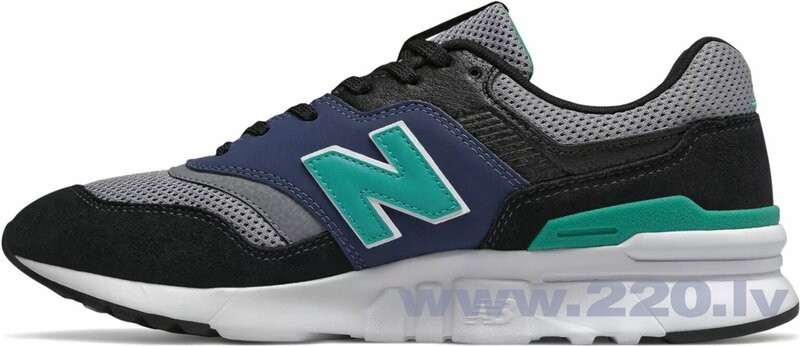 New Balance Apavi CM997HV1 Lifestyle Black Grey Mint Blue internetā