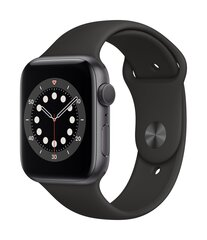 Apple Watch Series 6, 44 мм, Space Gray Aluminium Case with Black Sport Band цена и информация | Apple Watch Series 6, 44 мм, Space Gray Aluminium Case with Black Sport Band | 220.lv