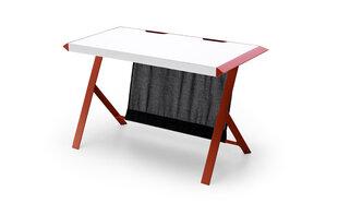 Игровой стол MC Akcent McRacing, белый/красный цена и информация | Компьютерные, письменные столы | 220.lv