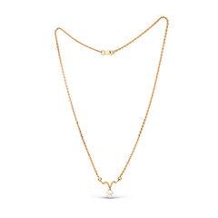 Zelta kaklarota ar pērli 01ALM000125 cena un informācija | Kaklarotas | 220.lv
