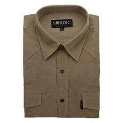 Vīriešu velveta krekls NORDIC, taisns siluets - Ar garām piedurknēm cena un informācija | Vīriešu velveta krekls NORDIC, taisns siluets - Ar garām piedurknēm | 220.lv