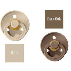 Knupītis BIBS 2 gab. Sand/ Dark Oak 6-18 mēn. cena un informācija | Knupīši | 220.lv