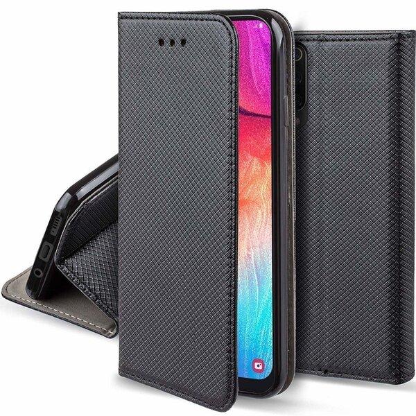 Fusion Magnet Case Grāmatveida Maks Priekš Xiaomi Redmi 9A Melns