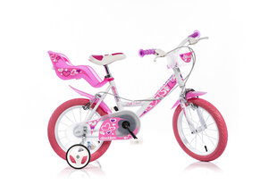"Meiteņu velosipēds Dino bikes 14"" (144 RN) cena un informācija | Meiteņu velosipēds Dino bikes 14"" (144 RN) | 220.lv"