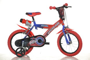 "Bērnu velosipēds Dino bikes Spiderman 16"" (163G BA) cena un informācija | Bērnu velosipēdi | 220.lv"