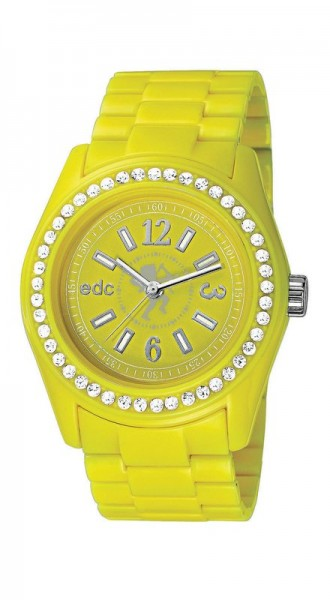 Pulkstenis edc by esprit Disco Glam Glowing Yellow With Stones