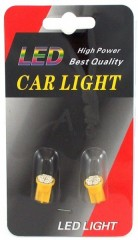 Car Light spuldzes W2.1x9.5d 12V LED8 (2gab) Oranžas