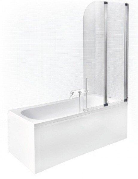 Akrila vanna Piramida Continea ar priekšējo paneli + stikla siena cena un informācija | Taisnstūra vannas | 220.lv