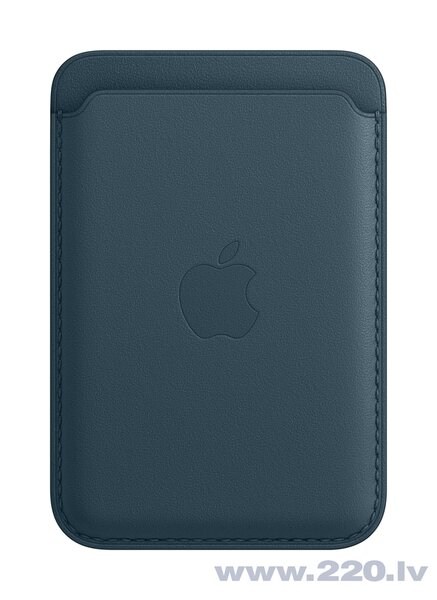 iPhone Leather Wallet with MagSafe, Baltic Blue