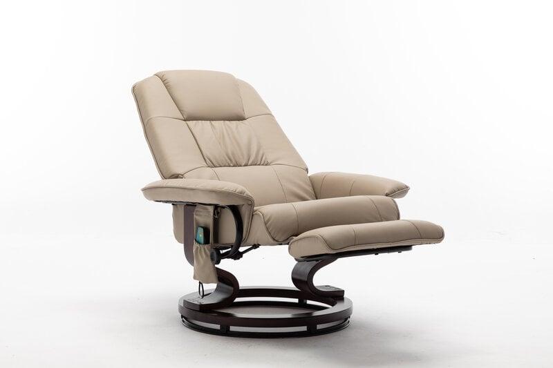 Krēsls regulaineris ar masāžas un sildīšanas funkciju NORE Alva, gaiši brūns cena