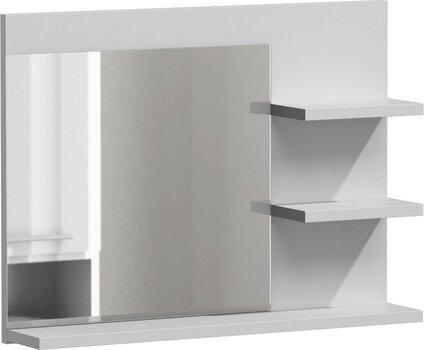 Spogulis ar plauktu NORE Lumo L3, balts cena un informācija | Spoguļi | 220.lv