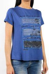 T-krekls sievietēm BLUOLTRE, zils cena un informācija | T-krekli sievietēm | 220.lv