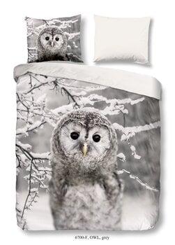 GoodMorning 3D gultas veļas komplekts Owl 140x220, 2 daļas cena un informācija | GoodMorning 3D gultas veļas komplekts Owl 140x220, 2 daļas | 220.lv