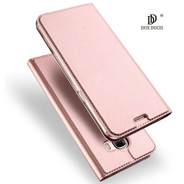 Dux Ducis Premium Magnet Case Grāmatveida Maks Telefonam Samsung A715 Galaxy A71 Rozā