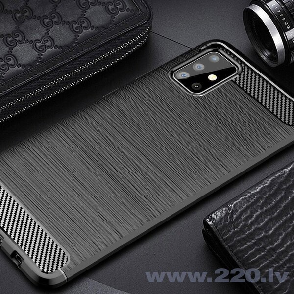 Maciņš Carbon Lux Samsung A715 A71 tumši zils internetā