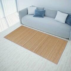 Brūns taisnstūra paklājs no bambusa 150 x 200 cm cena un informācija | Brūns taisnstūra paklājs no bambusa 150 x 200 cm | 220.lv