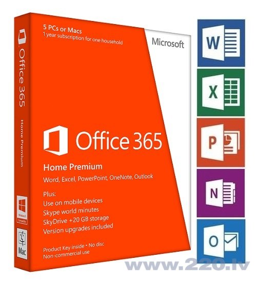 Microsoft Office 365 Home Premium ENG 1 gads 6GQ-00020 цена и информация | Lietojumprogrammas | 220.lv