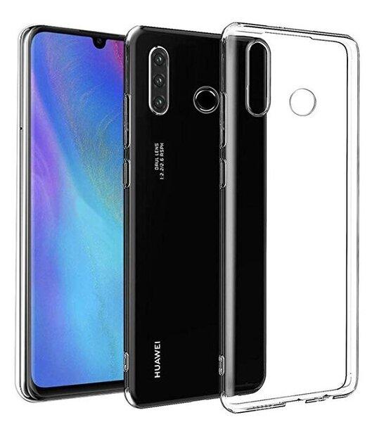 Hallo Ultra Back Case 0.3 mm Aizmugurējais Silikona Apvalks Priekš Huawei P30 Lite Caurspīdīgs cena un informācija | Maciņi, somiņas | 220.lv