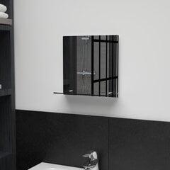 Sienas spogulis ar plauktu, 30x30 cm, rūdīts stikls cena un informācija | Spoguļi | 220.lv