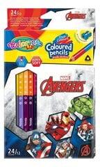 Krāsainie zīmuļi ar asinātāju Colorino Marvel Avengers, trijstūra, 12 gab./ 24 krāsas cena un informācija | Krāsainie zīmuļi ar asinātāju Colorino Marvel Avengers, trijstūra, 12 gab./ 24 krāsas | 220.lv