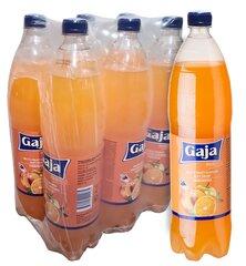 Gāzēts bezalkoholiskais dzēriens ar augļu aromātu Gaja, 1.5lx6 cena un informācija | Atsvaidzinoši dzērieni | 220.lv
