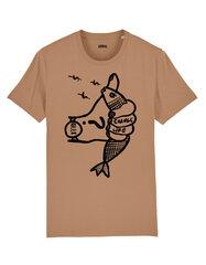 Unisekss T-krekls Change Life, gaiši brūns cena un informācija | T-krekli sievietēm | 220.lv