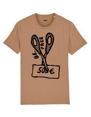 Unisekss T-krekls Be Free, bēšs cena un informācija | T-krekli sievietēm | 220.lv