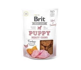 Brit Jerky Puppy Turkey Meaty Coins gardums ar tītaru kucēniem 80g cena un informācija | Gardumi suņiem | 220.lv
