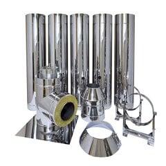 Dūmvadu komplekts DN180/280 mm, garums 5 m. cena un informācija | Dūmvadi | 220.lv