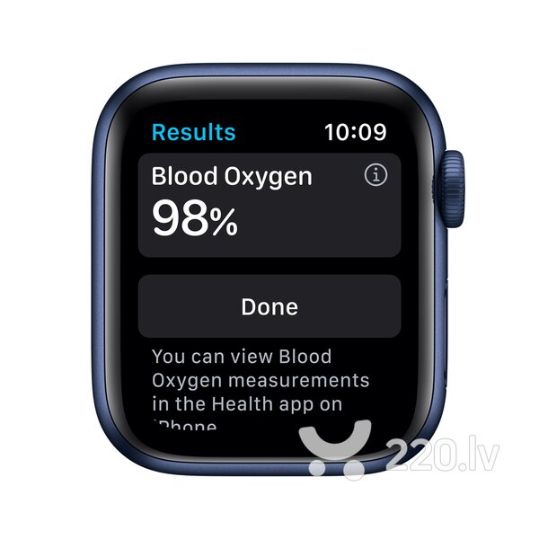 Apple Watch Series 6 GPS + Cellular, 40mm Blue Aluminium Case with Deep Navy Sport Band internetā