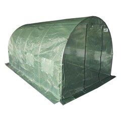 Tuneļa siltumnīca 4 segmentu, 4x2,5x2 m, zaļa cena un informācija | Siltumnīcas | 220.lv