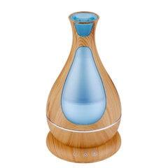 MiniMu ultraskaņas gaisa mitrinātājs ar aromātu, spīd 7 krāsās, 400 ml, Gaišs koks cena un informācija | MiniMu ultraskaņas gaisa mitrinātājs ar aromātu, spīd 7 krāsās, 400 ml, Gaišs koks | 220.lv