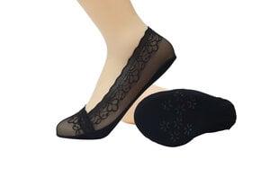 Sieviešu pēdiņas ar silikona lenti be Snazzy ST-33, melnas cena un informācija | Sieviešu zeķes | 220.lv