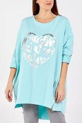 Džemperis sievietēm QED LND: krāsa - gaiši zila cena un informācija | Jakas sievietēm | 220.lv
