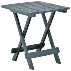 vidaXL saliekams dārza galds, zaļš, 45x43x50 cm, plastmasa cena un informācija | vidaXL saliekams dārza galds, zaļš, 45x43x50 cm, plastmasa | 220.lv