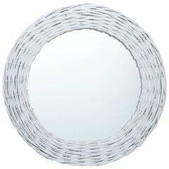 vidaXL spogulis, 40 cm, balts, pīts cena un informācija | Spoguļi | 220.lv
