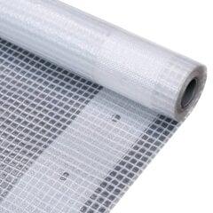 vidaXL brezenta pārklājs, smalki austs, 260 g/m² 3x15 m, balts cena un informācija | Dārza instrumenti | 220.lv